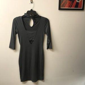 Dresses & Skirts - Grey mini cut out Dress